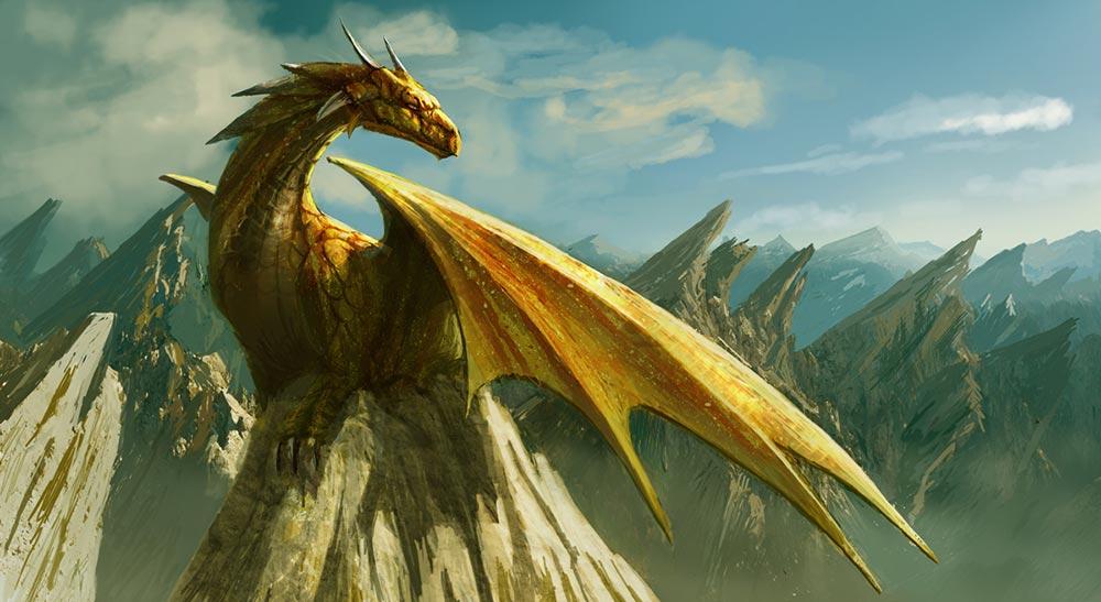 Dragón dorado. Imagen de Edli Akolli