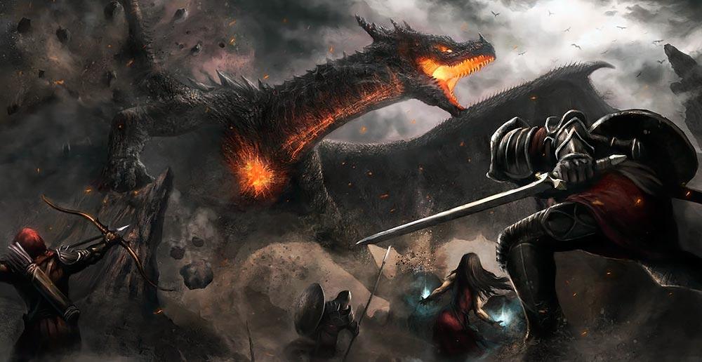 Dragón negro. Imagen de Aaron Florento