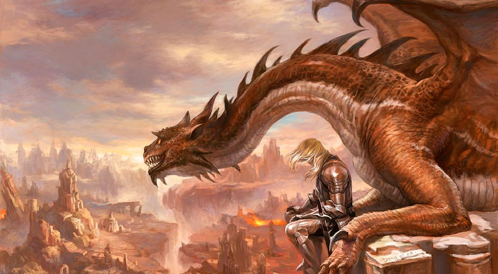 Dragón ocre. Imagen de Liu Dongzi
