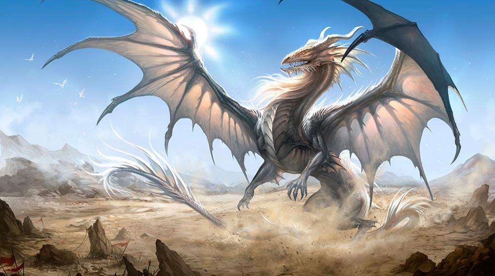 Dragón plateado. Imagen de Sandara