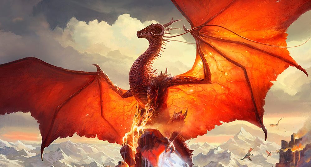 Dragón rojo. Imagen de Paul Scott Canavan