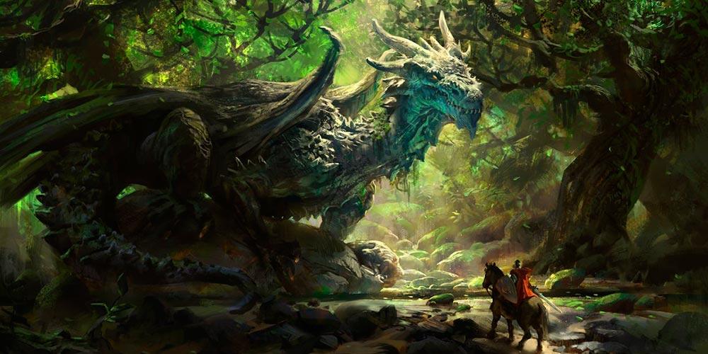 Dragón verde. Imagen de Mike Azevedo