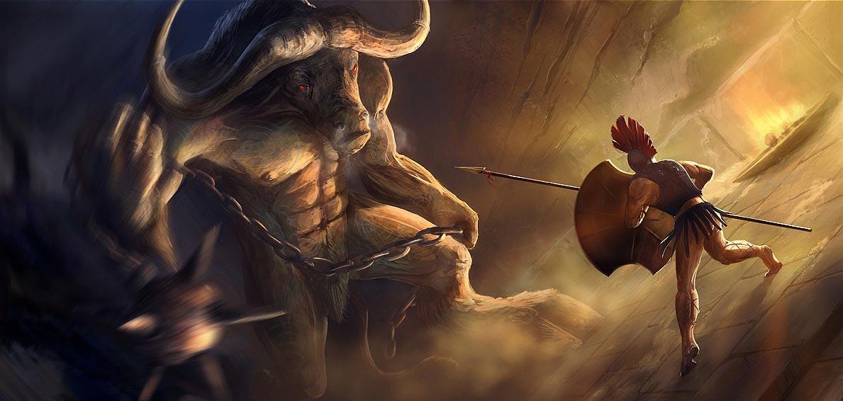 El minotauro. Imagen de Gaius Duke