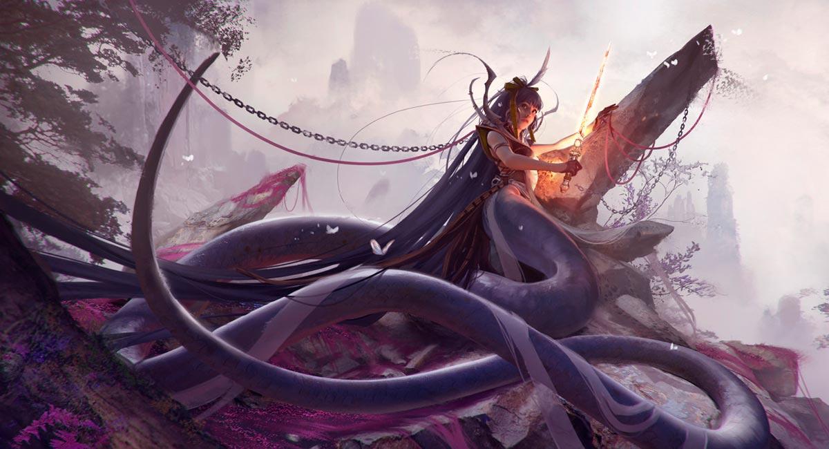 Naga, de Boris Vallejo