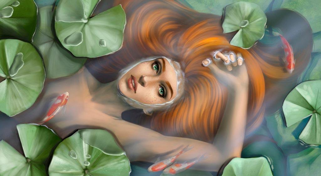 Ninfa en el estanque. Imagen de Kirsty Carter