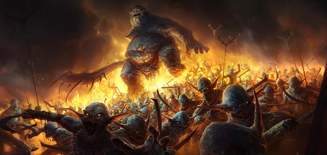El ogro y la horda de monstruos. Imagen de Pavel Maksymenko