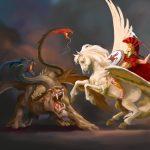 Quimera lucha contra Pegaso. Imagen de Marc Camelbeke