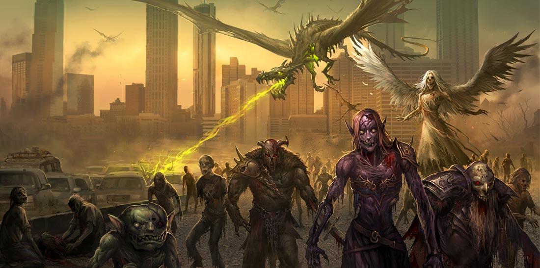 Seres mitológicos zombis toman las calles. Imagen de Sandara Tang