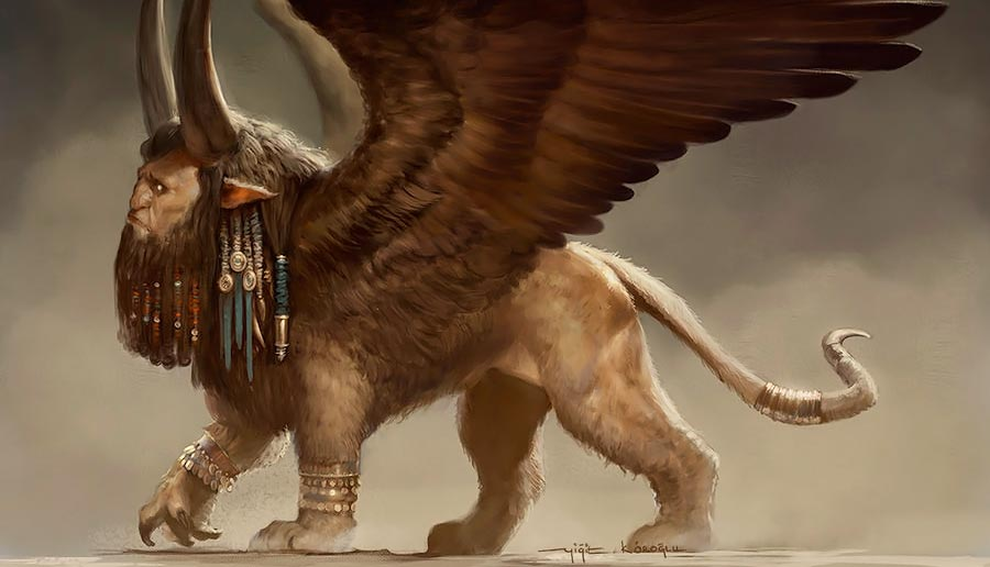 Lamasu asirio. Imagen de Yigit Koroglu
