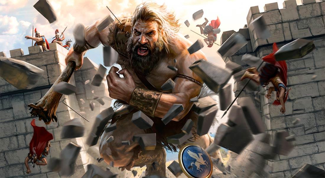 Gigante destruyendo una fortaleza. Imagen de Jarrod Owen